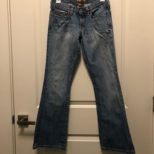 Abercrombie & Fitch Jeans - Abercrombie Fitch Medum Washed Bootcut Frayed 0S